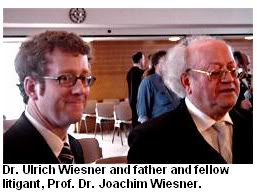Dr. Ulrich Weisner and his father Joachim Wiesner who won Germany lawsuit
